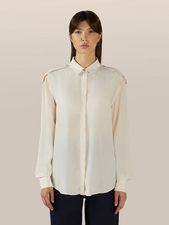 Camicia in crepe di seta light