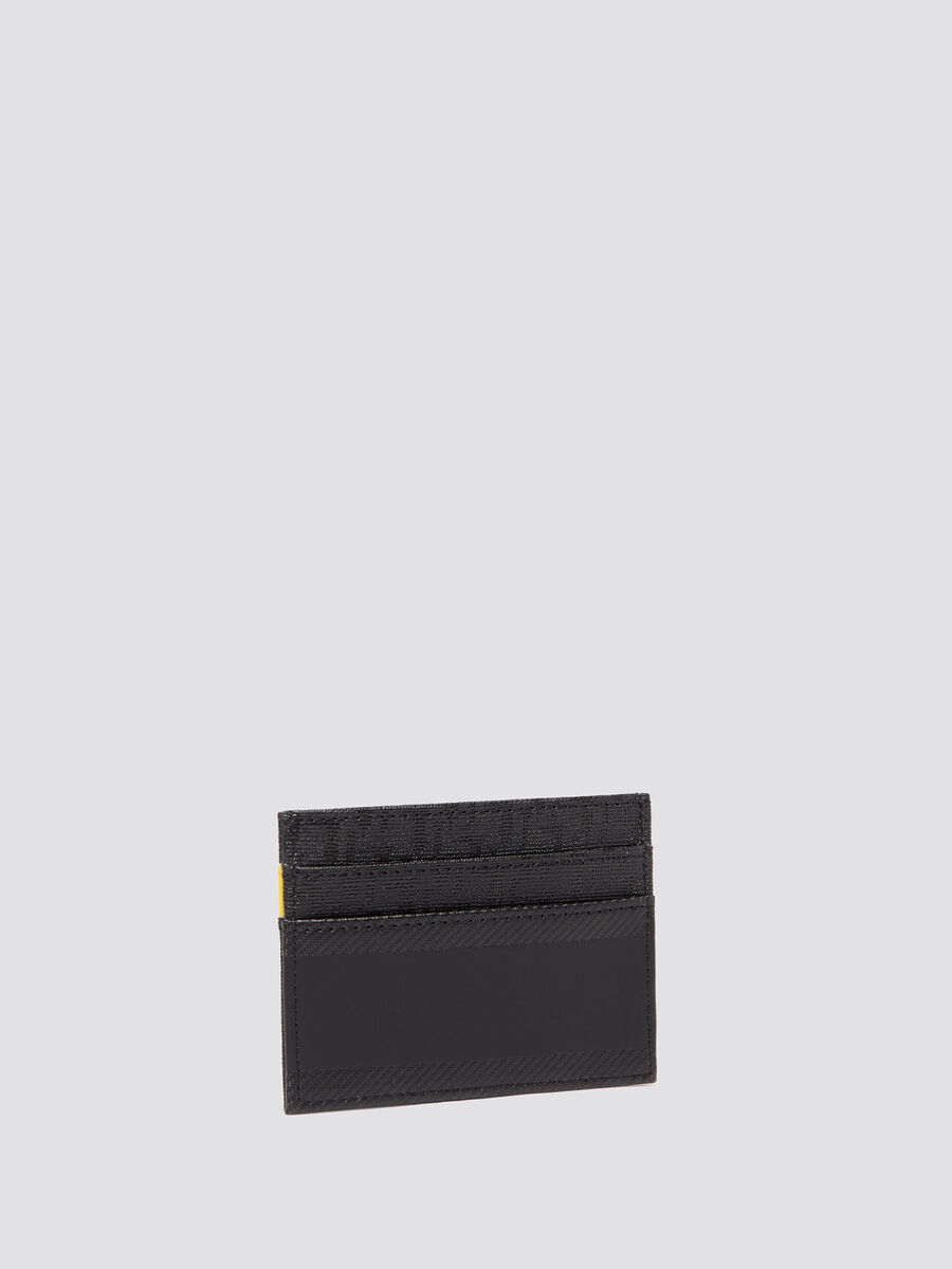 Card holder with carbon fiber effect