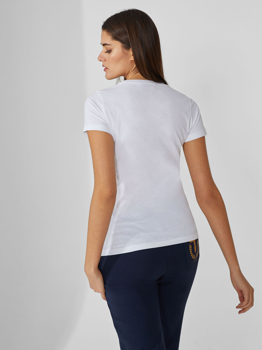 Regular-fit cotton T-shirt with monogram