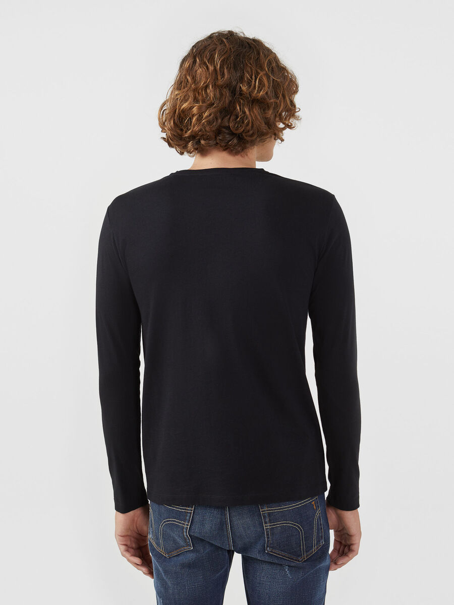 Regular fit jersey sweater with long sleeves