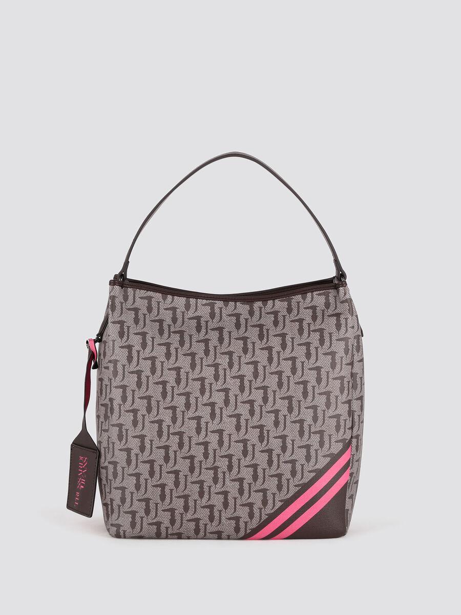 Vaniglia hobo bag with logo print