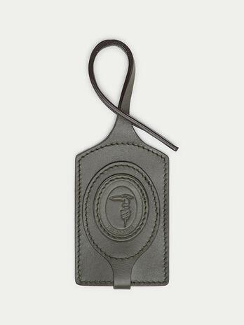Tresor leather luggage tag
