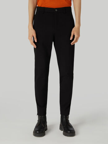 Skinny Milano-rib jersey trousers