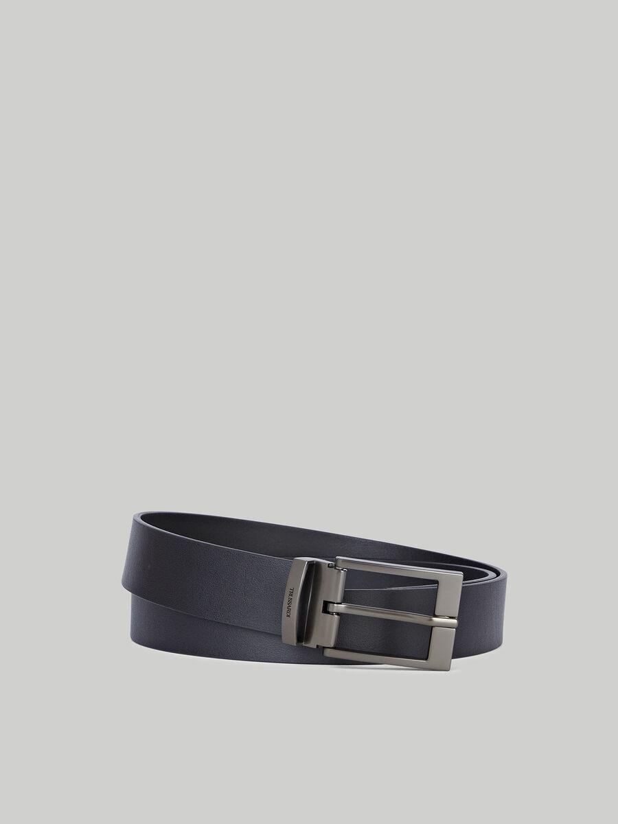 Plain nappa leather belt