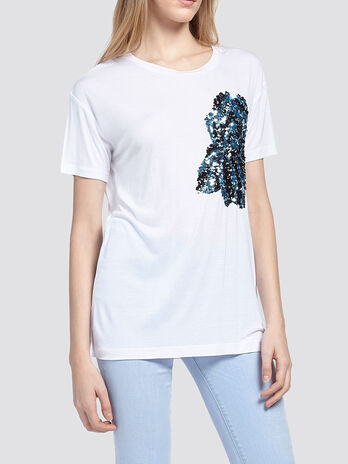 T shirt with sequins