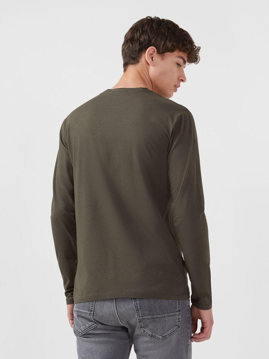 T-shirt coupe classique en jersey a manches longues
