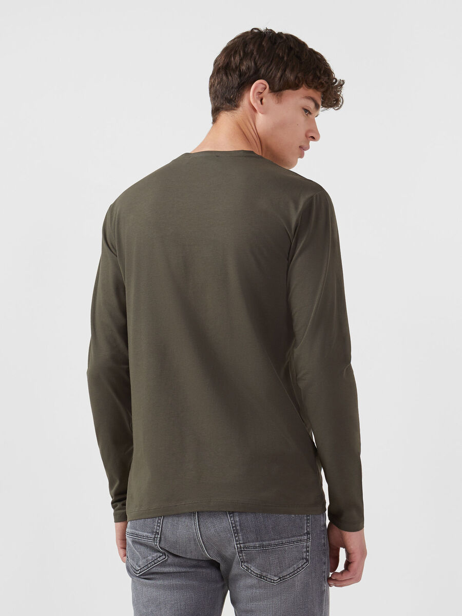 Camiseta de corte regular de punto y manga larga