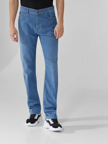 Icon 380 jeans in blue superlight denim