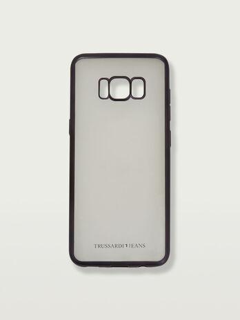 Coque souple pour Galaxy S8 transparente a logo