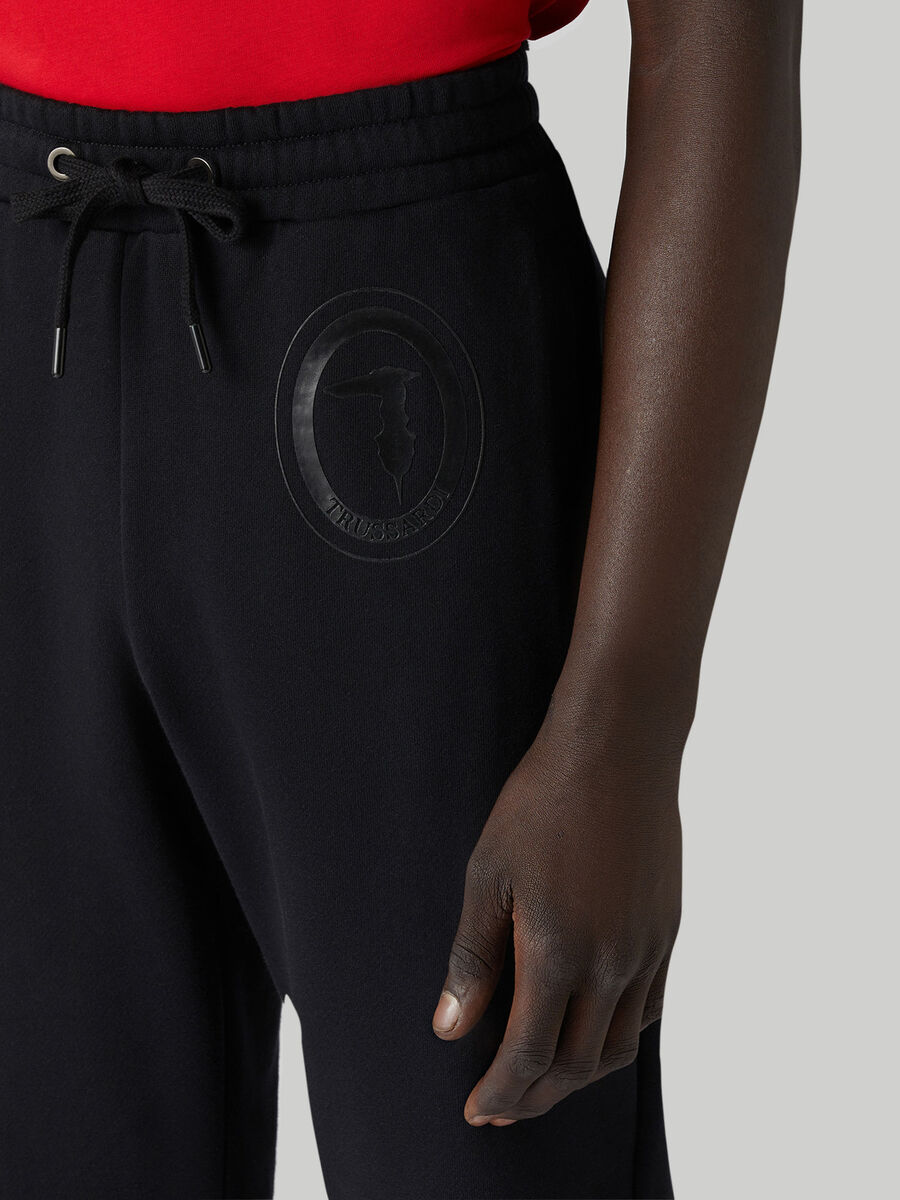 Regular-fit fleece jogging bottoms
