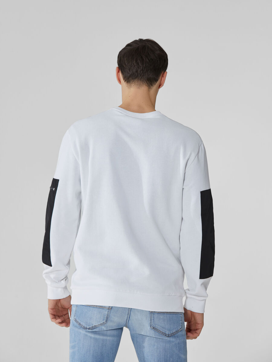 Regular-fit cotton sweatshirt with glossy print
