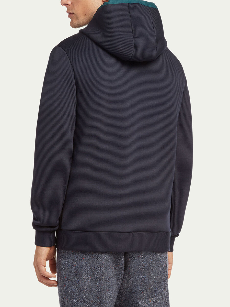 Ribbed zip up hoody