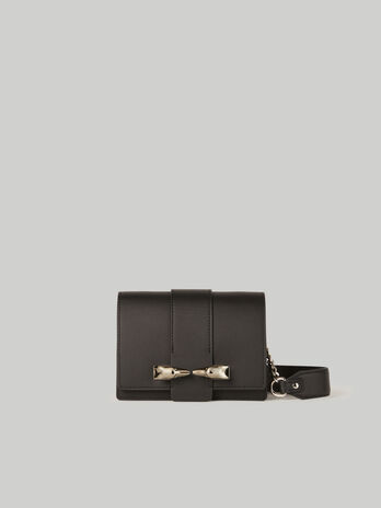Leather and suede Milano mini bag