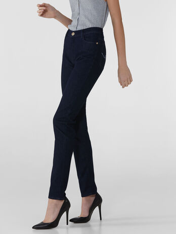 Skinny 105 jeans in dark blue Kate denim