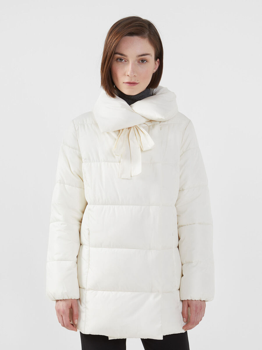 Oversized down jacket in soft matte nylon