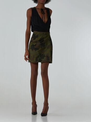 Camouflage jacquard dress