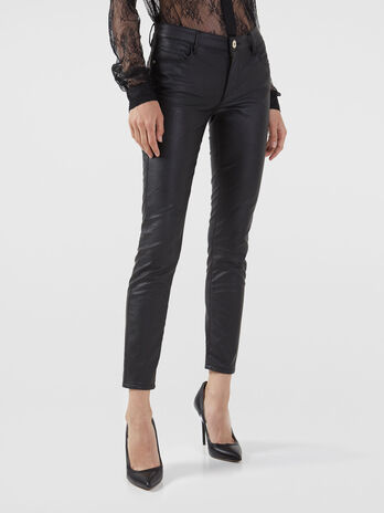 Pantalon 206 super skinny en similicuir