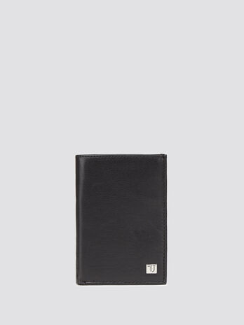 Grainy vertical wallet with logo