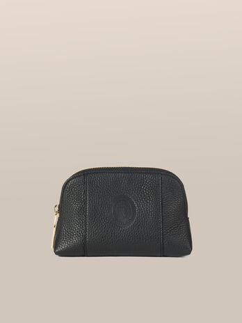 Medium Olivia toiletry bag in Elite leather