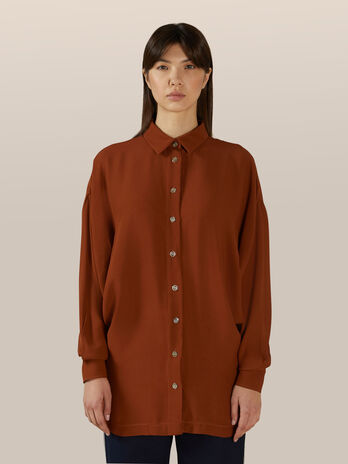 Camisa de doble georgette de viscosa