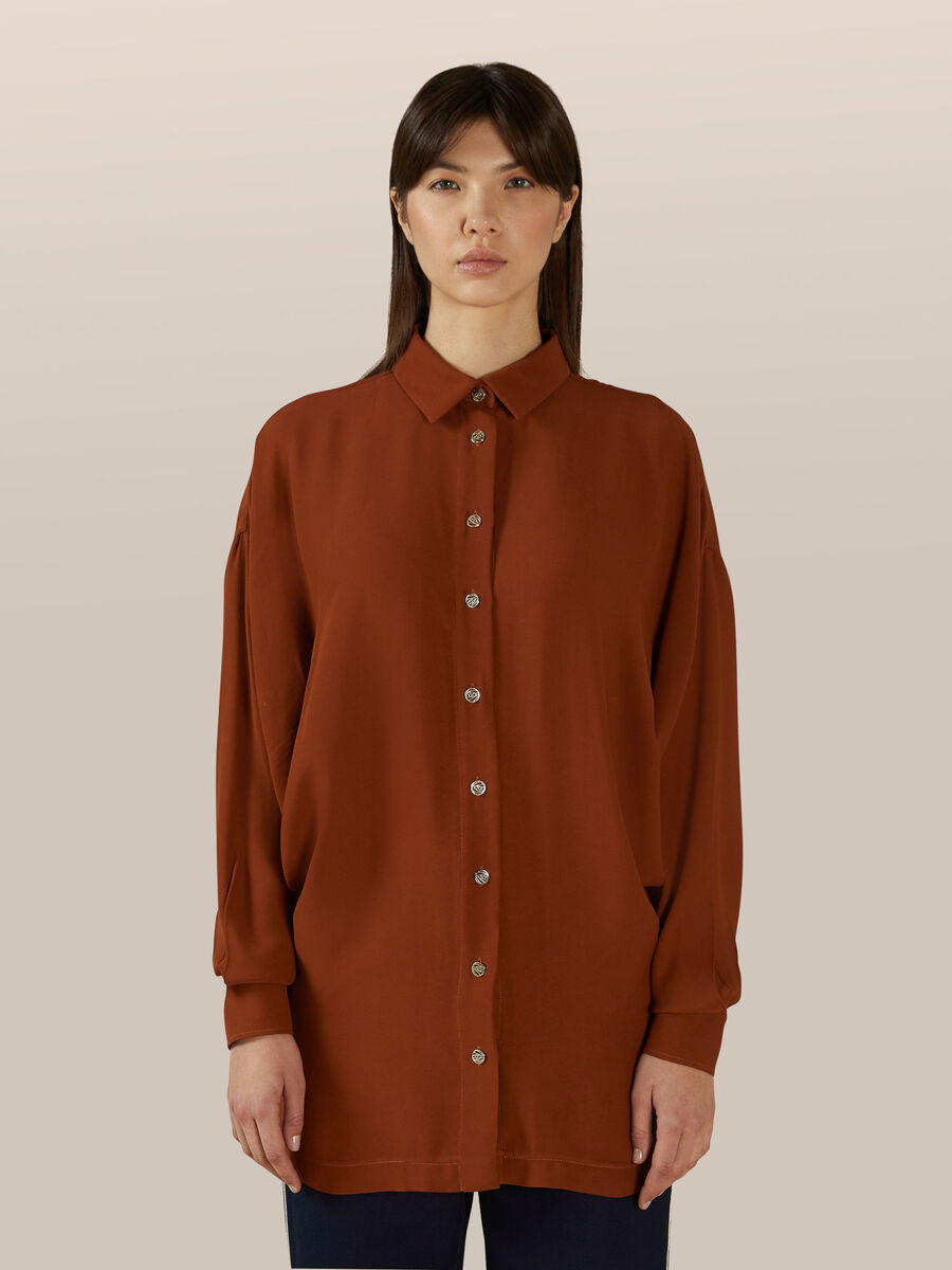 Camicia in doppia georgette di viscosa