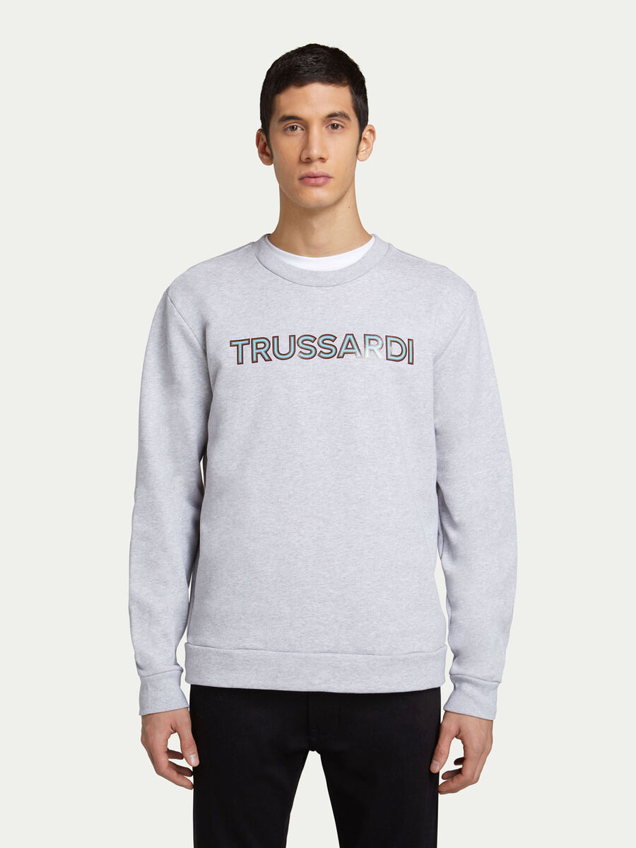 Regular fit cotton sweatshirt with lettering print