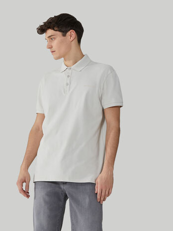 Regular-fit stretch cotton pique polo-shirt