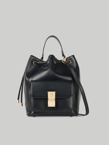 Medium Lione bucket bag in faux leather