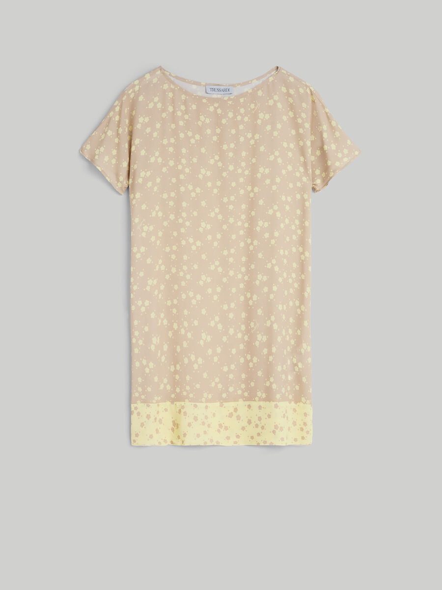 Viscose crepe blouse with floral print