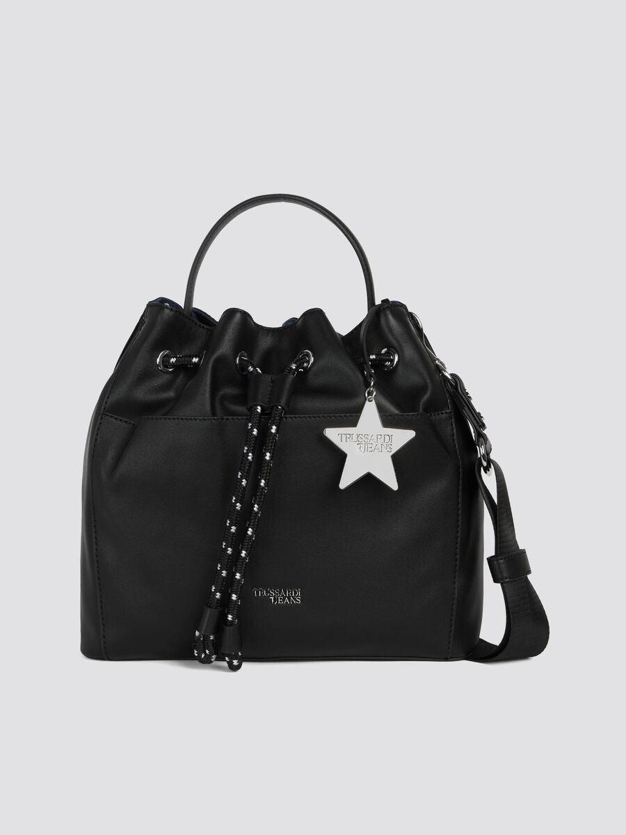 T-Easy Star secchiello small in similpelle charm e logo