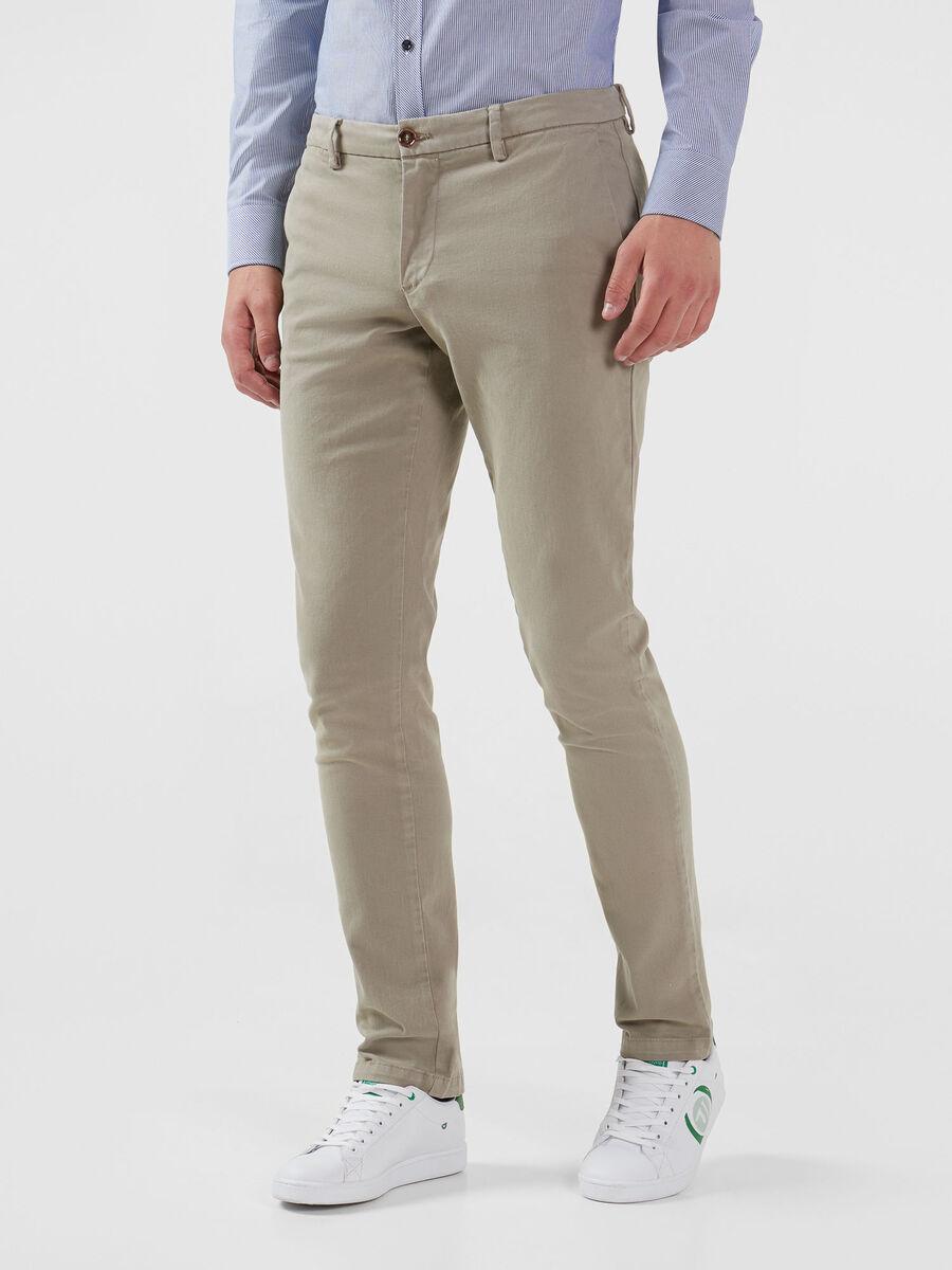 Stretch gabardine Aviator trousers