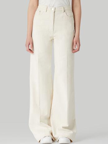 Jeans Wide in denim di cotone