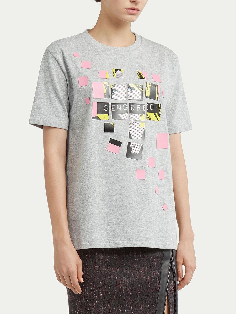 T-Shirt aus Jersey mit Pop Art Print