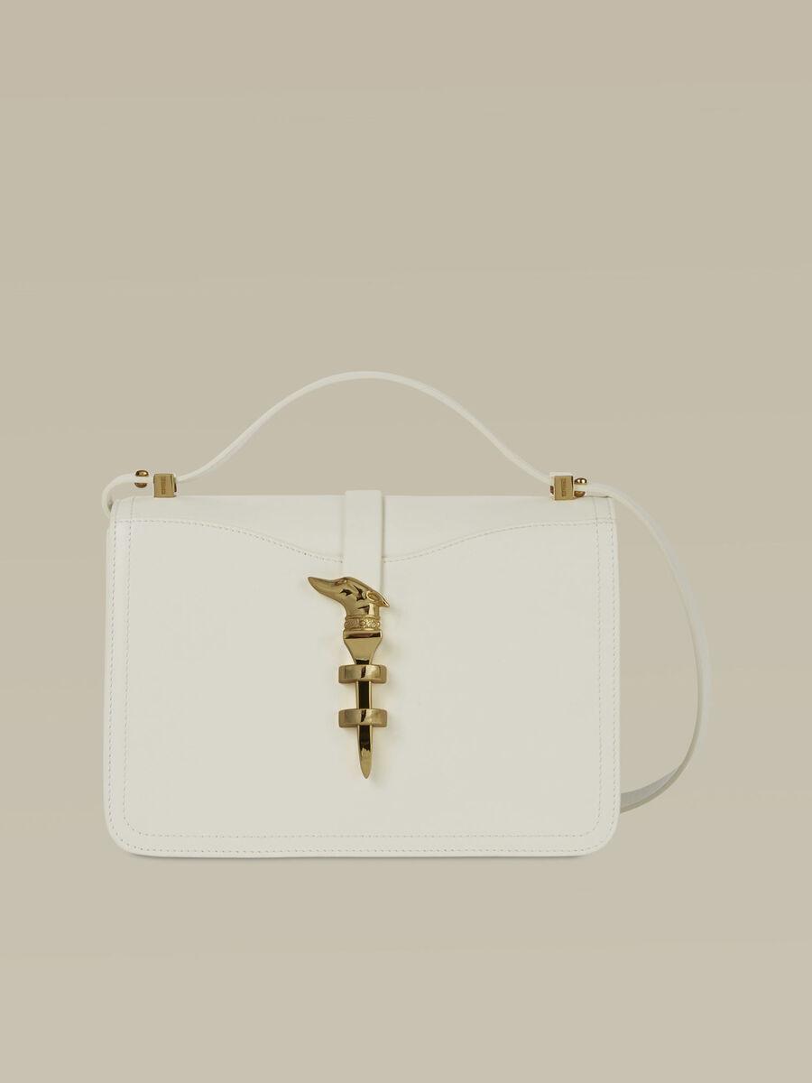 Medium Leila Cacciatora bag in smooth leather