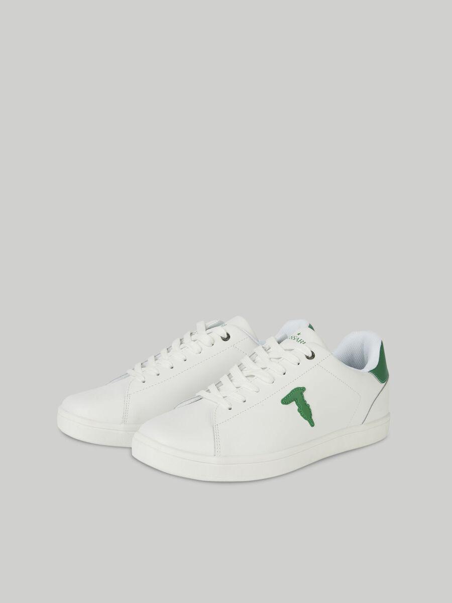 Sneaker aus Leder mit Monogram-Patch