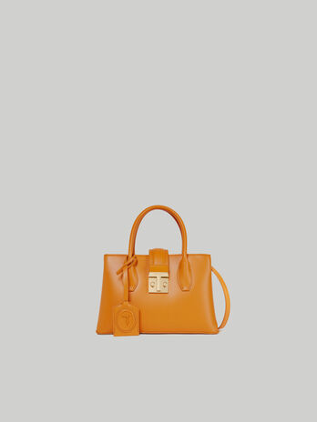Tote bag Tulip small in similpelle liscia