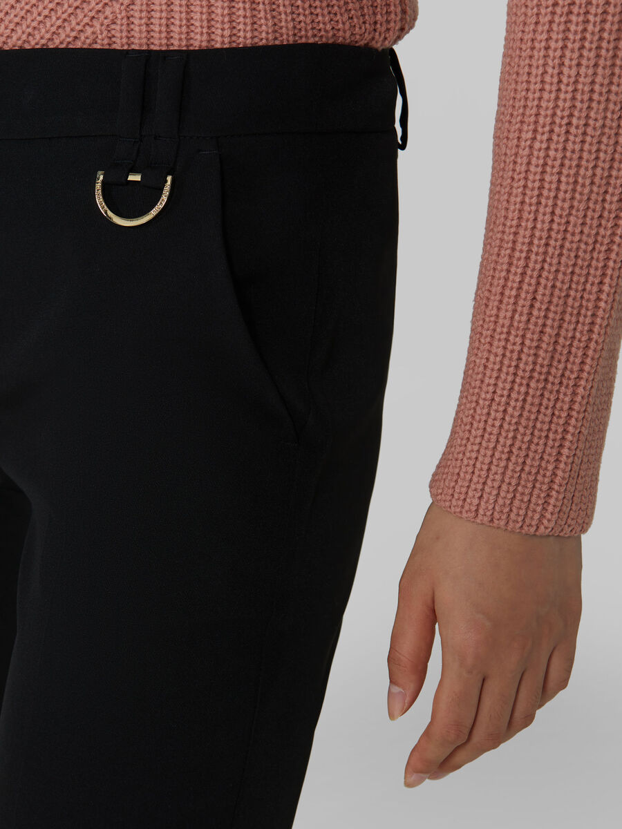 Slim fit technical cady trousers
