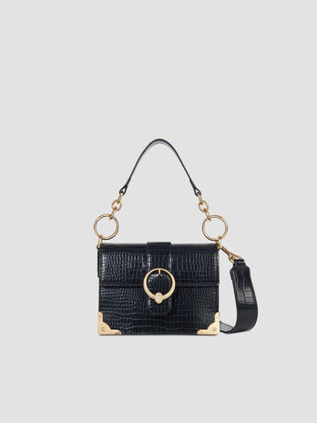 Small Miami crossbody bag in croco print faux leather