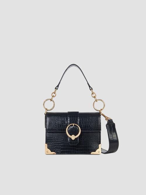 Small Miami crossbody bag in croco print faux leather