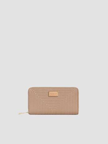 Large faux leather Frida zip around purse