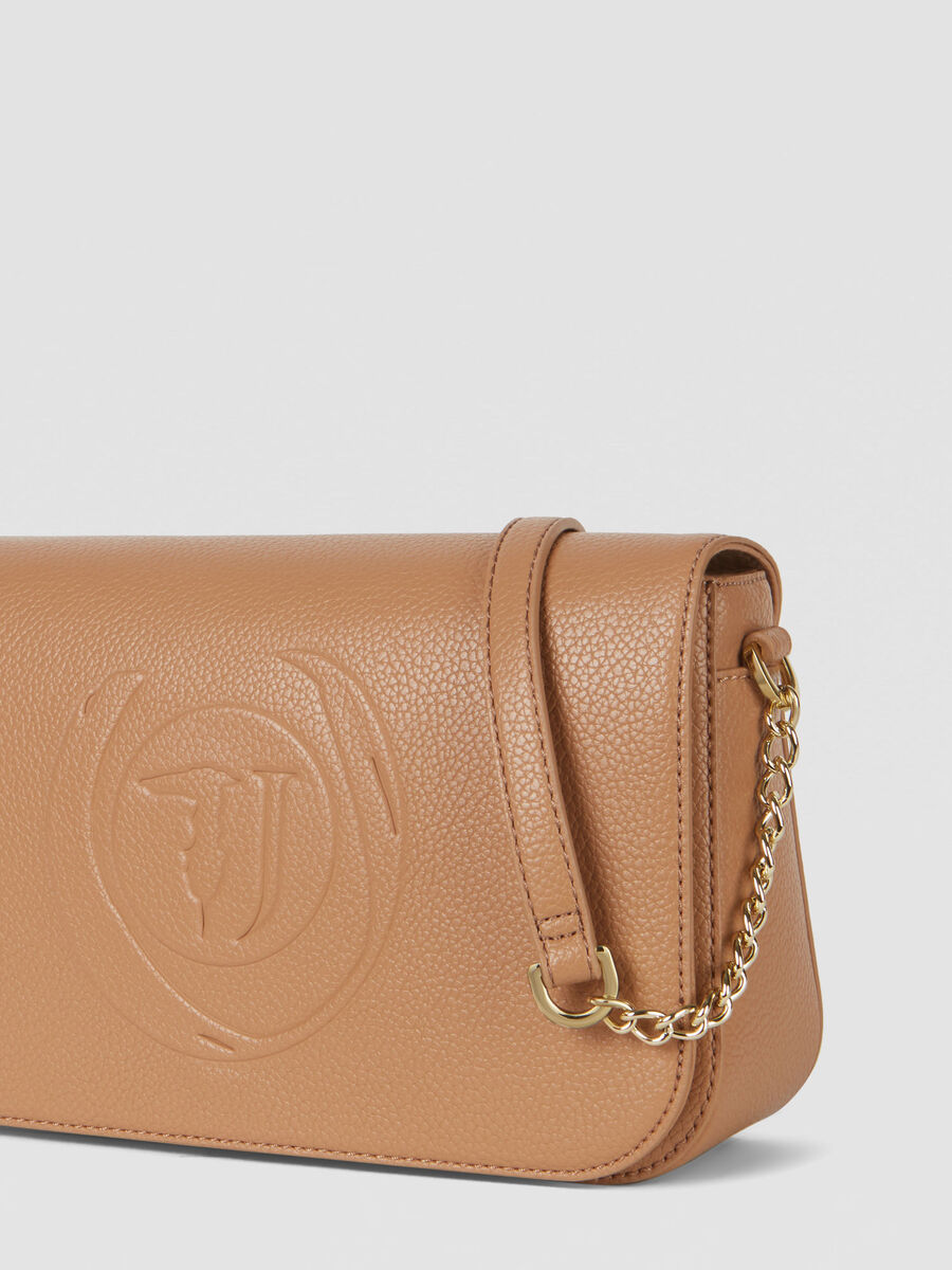 Small Faith crossbody bag in faux leather with logo