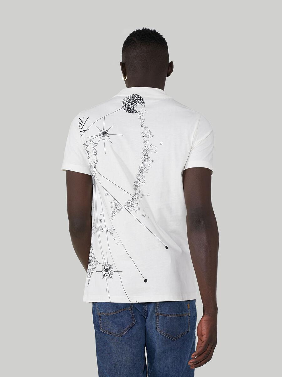 T-shirt coupe classique en pur coton