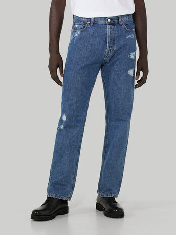 90s loose-fit jeans in Jean denim
