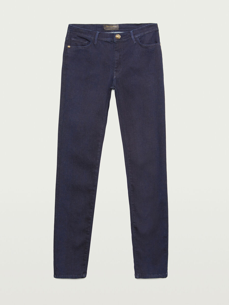 Jeans 105 skinny a vita alta