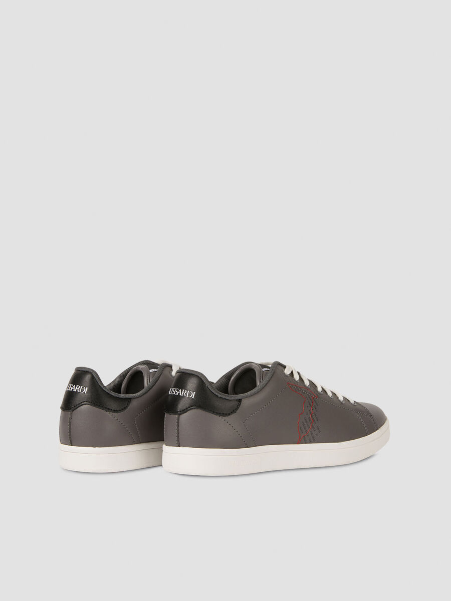 Printed leather Galium sneakers