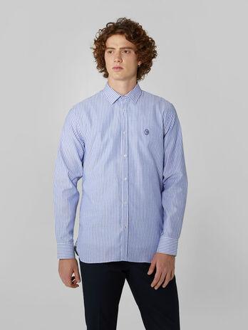 Regular fit striped cotton shirt