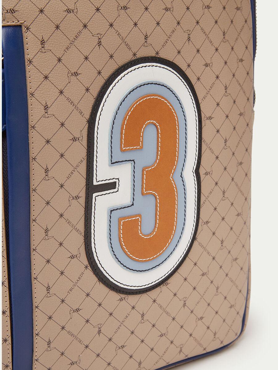 Rucksack Monogram aus Crespo Leder mit Patch