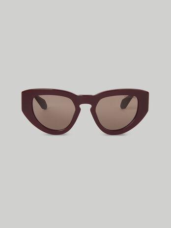 Sonnenbrille aus Acetat in Bordeaux