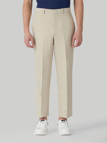 Pantalon en coton et lin