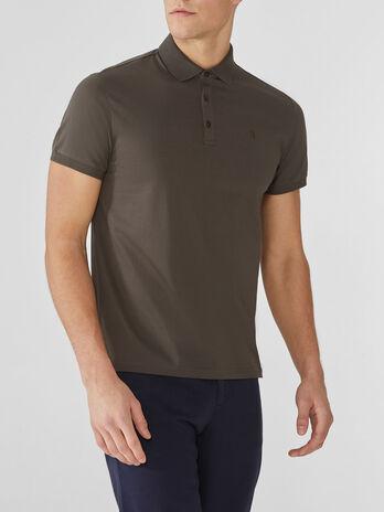 Regular-fit cotton polo-shirt